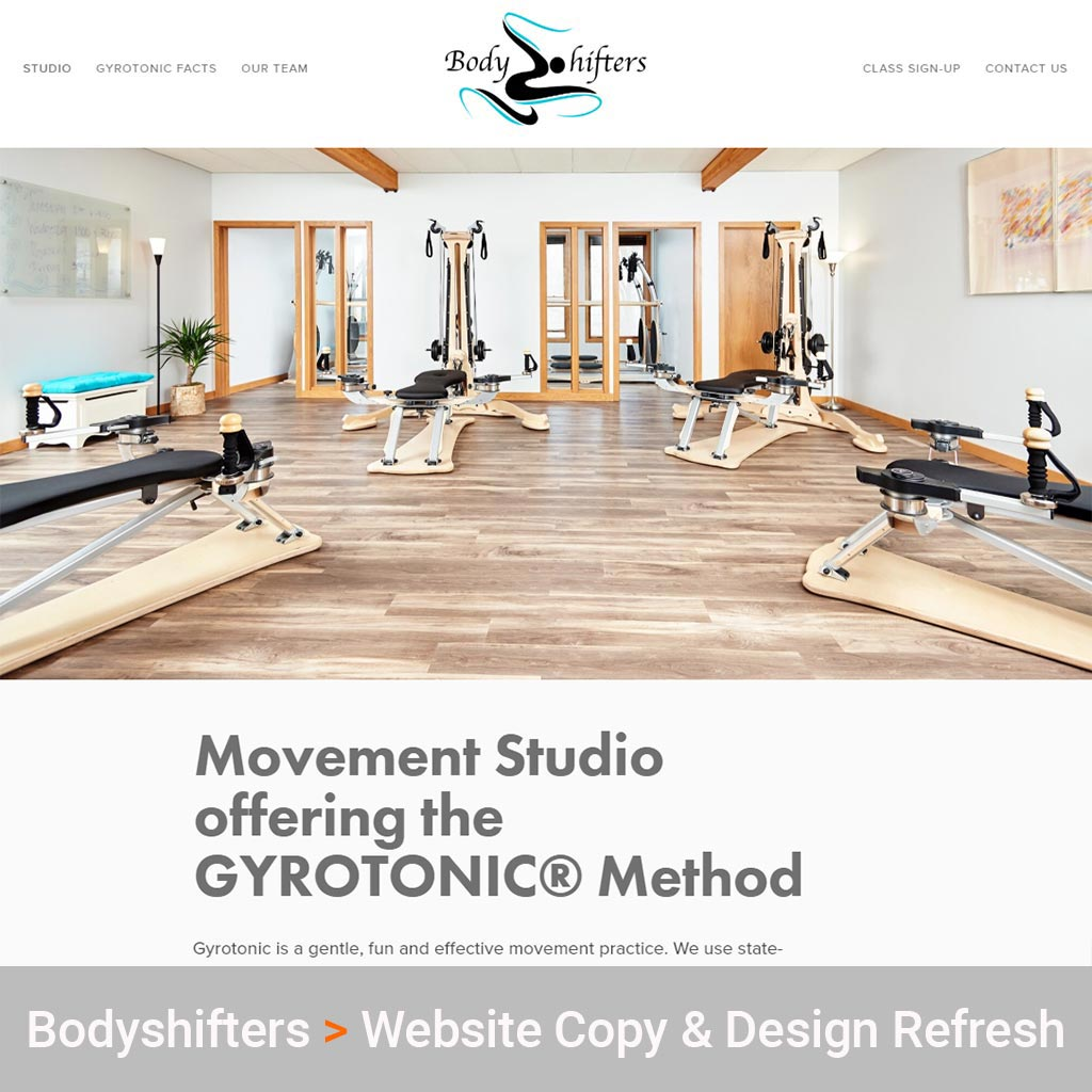 Technology Consulting Services for Bodyshifters Movement Studio